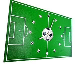 Tinas Collection Küchenuhr mit dem Motiv Fußballfeld, 40 x 26 cm