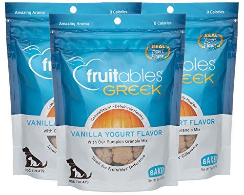 Fruitables Greek Crunchy Dog Treats Vanilla Yogurt Flavor with Pumpkin Granola & Greek Yogurt (3 Pack) 7 oz Each