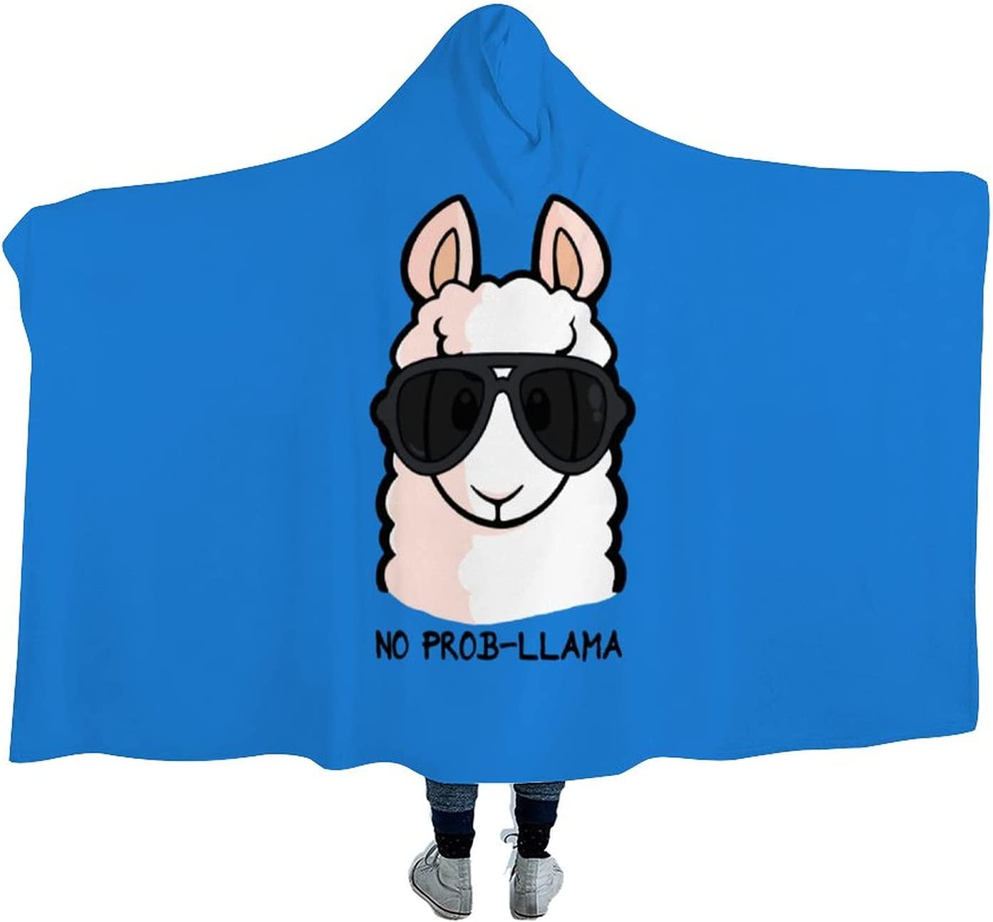 No Prob- Llama Wearable Max 40% OFF Hooded Blanket Complete Free Shipping Cloak Tv for Watch Soft S