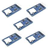 HiLetgo 5pcs Micro SD TF Card Adater Reader Module 6Pin SPI Interface Driver Module with chip Level Conversion for Arduino UNO R3 MEGA 2560 Due
