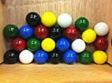 Mega Marbles Set of 24 1' Shooter Marbles Solid Colors (4 of Each Color)