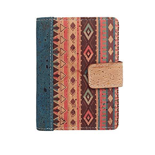 Portafoglio Donna con cerniera - Portamonete da donna di fabbricazione artigianale / sughero ecologico portoghese - Design moderno/Sistema (RFID) di blocco dei lettori - Vegane