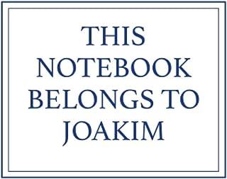 This Notebook Belongs to Joakim
