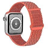 OUBK Correa Compatible con Apple Watch 44mm 42mm 38mm 40mm,Pulseras de Repuesto de Correa para iWatch Series SE 6 5 4 3 2 1,Mujer y Hombre(38mm/40mm,Albaricoque)