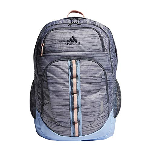 adidas Unisex Prime Backpack, Grey Two Looper/ Onix/ Glow Blue/ Glow Pink, ONE SIZE