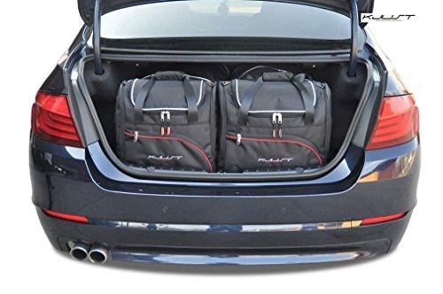 KJUST Kofferraumtaschen 4 STK Set kompatibel mit BMW 5 Limousine F10 2010 - 2017