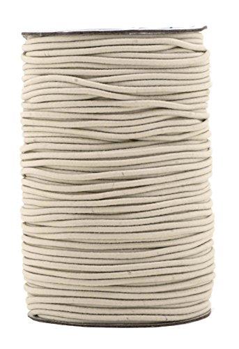 Mandala Crafts Elastic Cord Stretchy String for Bracelets, Necklaces, Jewelry Making, Beading, Masks (Cream, 2mm 76 Yards)