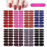 MWOOT 8 Hojas Pegatinas de Esmalte de Uñas,Color Sólido Adhesivas Nail Art Stickers,Nail Polish...