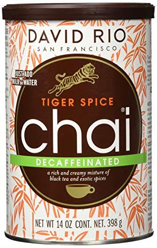 Tiger Spice Decaf Chai - David Rio Chai, 1er Pack (1 x 398 g)