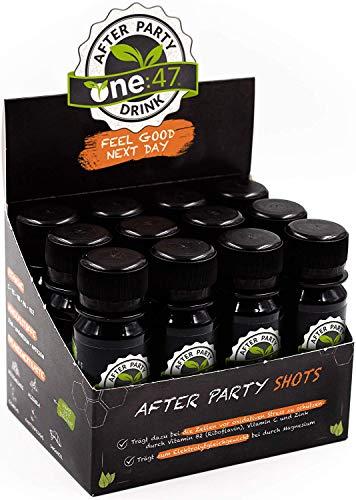 one:47 ® After Party Drink | 12 Shots | Feel good next day | Natürlich Feiern, natürlich fit | Die originale geschützte one 47 Formel