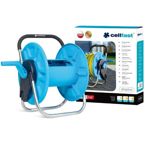 Cellfast Gartenschlauchständer ALUPLUS Schlauchtrommel bequeme Beförderung und Aufbewahrung des Schlauchs, verhindert das Verdrehen \ndes Schlauches beim Umspulen, 55-160