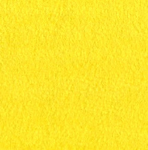 "Yellow Anti Pill Solid Fleece Fabric, 60"" Inches Wide – Sold By The Yard"