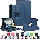 NAUC Tablet Schutzhülle Medion Lifetab P8502 P8513 Tablet Hülle Tasche Standfunktion 360° Drehbar Farbauswahl Cover Hülle Universal Schutzhülle, Farben:Blau