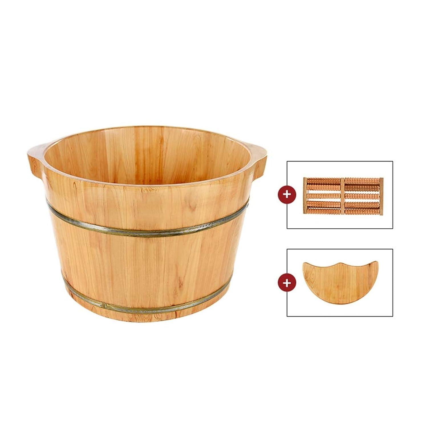 コテージ非常に怒っています持っているフットバス、堅牢で耐久性のある天然太い木製サウナ足浴槽が改善するマッサージ足を浸しことができます 26cm (Size : 26cm(10in))