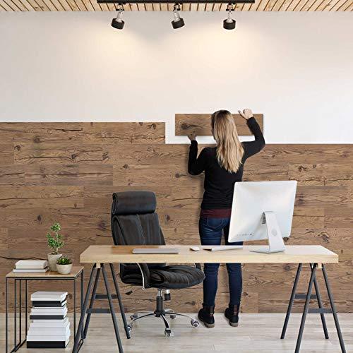 Sun Wood Stick-it Holz Wandverkleidung selbstklebend Altholz Design // Tirol 02 Wandpaneele zum Kleben Holzverblender 0,48m2 aus Fichtenholz