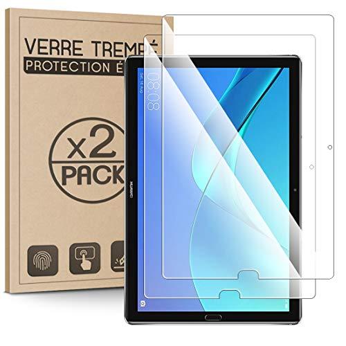 KARYLAX - Juego de 2 protectores de pantalla (dureza 9H, 3D-Touch, 100% transparente), cristal templado antiarañazos para Huawei MediaPad M5 de 10,8 pulgadas