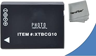 High Capacity Replacement Panasonic DMW-BGC10 / DMW-BGC10PP Batteries for Panasonic Lumix DMC-3D1, DMC-TZ6, DMC-TZ10, DMC-TZ18, DMC-TZ19, DMC-TZ20, DMC-TZ25, DMC-TZ30, DMC-TZ35, DMC-ZR1, DMC-ZR3, DMC-ZS1, DMC-ZS5, DMC-ZS6, DMC-ZS7, DMC-ZS8, DMC-ZS9, DMC-ZS10, DMC-ZS15, DMC-ZS19, DMC-ZS20, DMC-ZS25, DMC-ZX1, DMC-ZX3 Digital Cameras