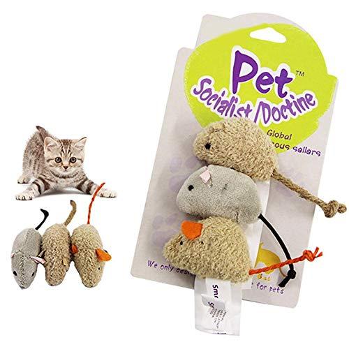 Katzenspielzeug Interaktives Spielzeug Maus Bälle Interaktiv Ball Maus Katze Toys Spielzeugmäuse, Katzenspielzeug, Mäuse Spielzeug Mouse Katze Haustier Weich Flauschig Für Katzen Kitty 3 Stück