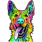Enjoy It Dean Russo German Shepherd Car Sticker, Outdoor Rated Vinyl Sticker Decal for Windows, Bumpers, Laptops or Crafts