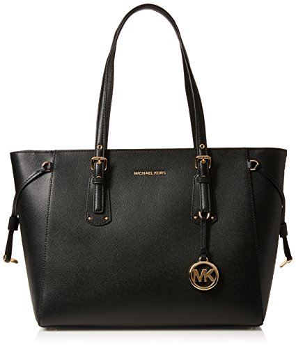 Michael Kors Voyager Medium Top Zip Tote, Black (Black)