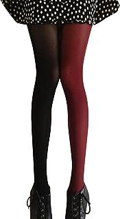 LUOEM Strumpfhosen mehrfarbig Damen Mode Splice Kniestrümpfe Party Kostüm Strümpfe