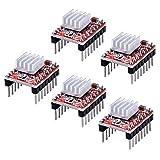 Longruner A4988 Stepstick Stepper Motor Driver Module + Heat Sink for 3d Printer Reprap (Pack of 5...