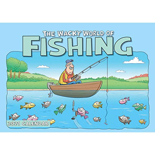 Wacky World of Fishing A4 Calendar 2021