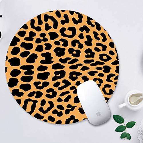 WINSHINE Cojín de ratón del Estampado Leopardo de la Ronda del Vector Mousepad Alfombrillas de ratón para Ordenadores portátiles Antideslizante Goma Juego Alfombrilla Ratón 200 * 200 * 3 mm, Leopardo