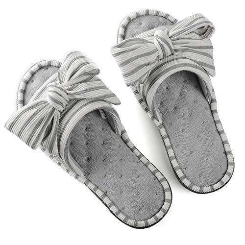 ULTRAIDEAS Women's Memory Foam Open Toe Slide Slippers with Adjustable Strap, Ladies' Slip-on House...