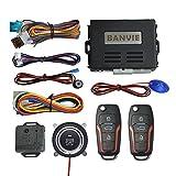BANVIE ① Car Keyless Entry Security Alarm System + ② Remote Engine Starter + ③ Push to Start Stop...