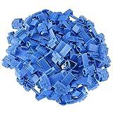 FULARR 50Pcs Connettori Scotch Kit, Terminali Crimpare Isolati, Capicorda Elettrici Connettori Rapidi, Connettore Derivazione, Rubacorrente, per Cavo 1.0-2.5mm² / 18-14 AWG –– Blu