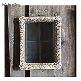 YBGW Espejos De Pared Decorativos Vintage Espejo De Pared MDF Rectangular Antiguo De Oro Francés Artesanal Espejos para Baño Espejos De Pared