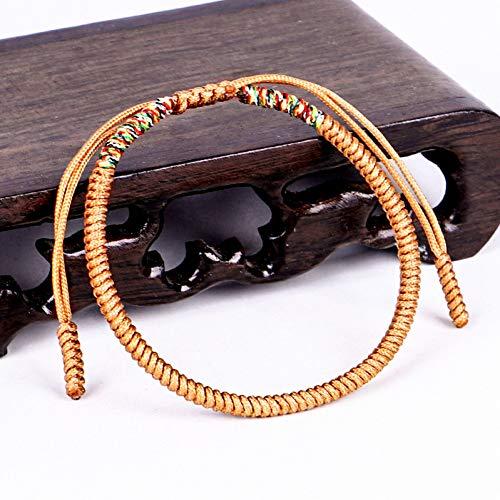 LCXZMA Liebe Glücksbringer Tibetische Armbänder & Armreifen Für Frauen Männer Handgemachte Knoten Seil Budda Armband