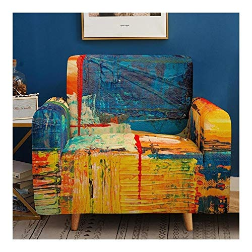 Tmpty Fundas De Sofá Estampadas 1 2 3 4 Plazas Funda Suave Y Gruesa Spandex Antideslizante Cubierta Muebles A Prueba Polvo (Color : 1, Size : 90-140cm)