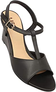 Life by Shoppers Stop Womens Buckle Closure Wedge Sandals