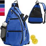 Athletico Sling Bag - Crossbody Backpack for Pickleball, Tennis, Racketball, and Travel