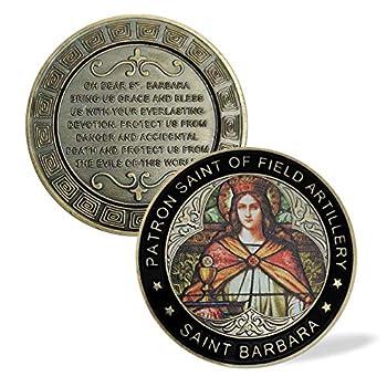 Saint Barbara Challenge Coin for Us Patron Saint Medal Prayer Coin