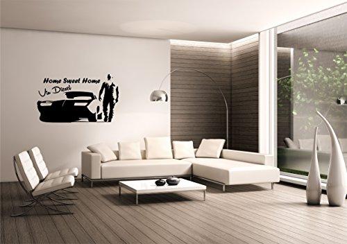 Saphir Design Wandtattoo Vin Diesel Home Sweet Home (Schwarz Matt 100x60cm)