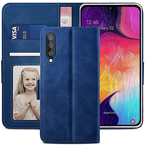 YATWIN Cover Samsung Galaxy A50, Cover a Libro Samsung Galaxy A30s, Flip Custodia in Pelle Samsung Galaxy A50 Portafoglio, Chiusura Magnetica Cover per Samsung Galaxy A50 / A30S/A50S - Blu