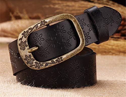 Irinay Pantalones Vaqueros De Los Hombres Casual Chic Cinturón De Pantalones Vaqueros Retro Big Code Cinturón Elástico Ancho Cinturón De Cuero Moda Clásico Pin Hebilla Cinturón Cinturón Cinturón