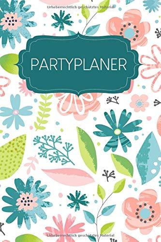 Partyplaner: Gepunktetes Notizbuch zum Planen deiner Parties und Events | Motiv: Pastellblumen