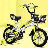12/14/16/18 Pulgadas Bici Infantiles Bicicletas NiñOs con Ruedas Auxiliares Manillares/Asientos Ajustables NeumáTicos De Goma Apta para NiñOs De 2 A 13 AñOs