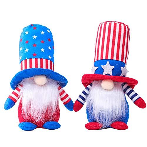 AC1 Muñeca de gnomo patriótico enano muñeca decoraciones hogar