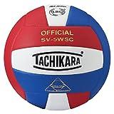 Tachikara Sensi-Tec Composite Ballon de Volleyball Haute Performance Rouge écarlate/Blanc/Bleu Roi