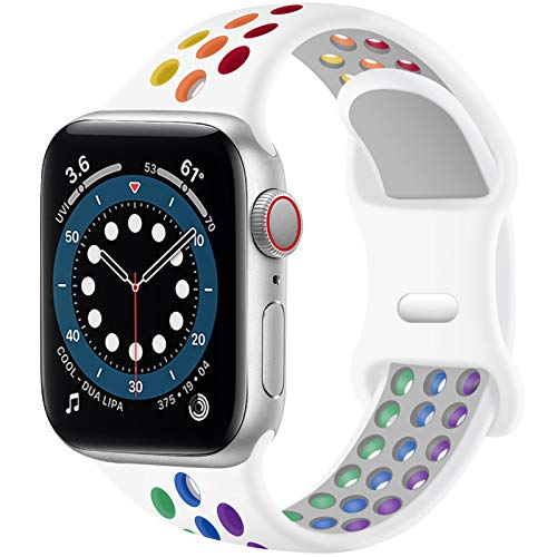 SVISVIPA Sport Bands Compatible for Apple Watch Bands 44mm 42mm 40mm 38mm,Breathable Soft S…