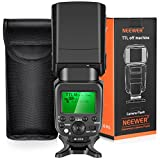Neewer TTL Flash for Sony HSS 1/8000s GN58 Master Slave Speedlite for Alpha A6000 A6300 A6500 A7 A7R Camera, Integrated 2.4G Wireless (NW630)
