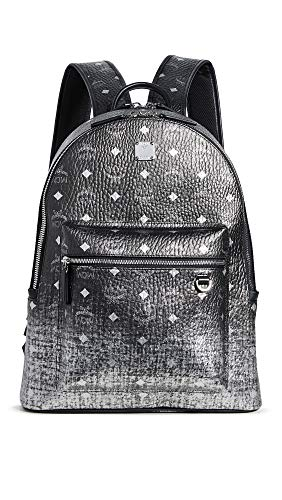 MCM Men's Stark Gradation Visetos Backpack, Silver, One Size