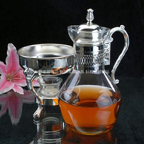 LHXS Europese Zilver Verwarmbaar glas Koffiepot Wijnpot Huishoudelijke Koken Theepot Hotel