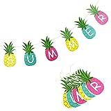 SUNBEAUTY Ananas Girlande SUMMER Buchstaben Banner Sommerparty Dekoration