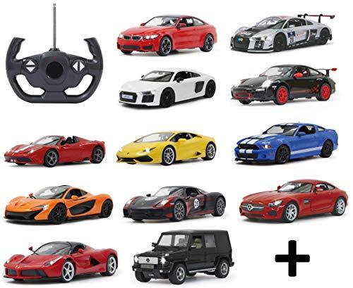 BUSDUGA RC ferngesteuertes Auto 1:14 - wählen Sie Ihr Modell - mit Licht, Lizenznachbau, RTR (Ford Mustang rot)